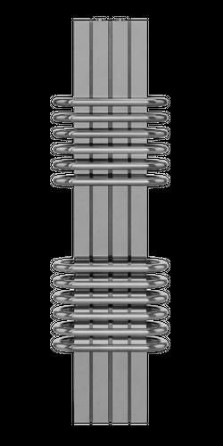 BARS-1 sekcja relingów-P Inox polerowany